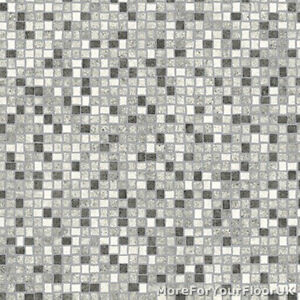 Image Is Loading Black White Amp Grey Mosaic Tile Vinyl Flooring