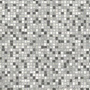Black White Amp Grey Mosaic Tile Vinyl Flooring Slip