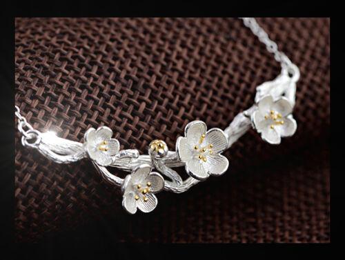 ++ Encantador cadena señora cadena flores AST Flower 925 Sterling plata nuevo top