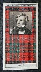 ROSS-Scottish-Clan-Tartan-Original-1920-039-s-Vintage-Card-VGC