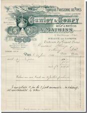 Gawley&Henry Manufacture de Papier a cigarette Le Houblon Fabrique de pipe 1910