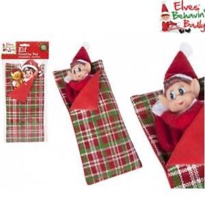 Naughty-Elf-Sleeping-Bag-Elves-Behavin-039-Badly-Christmas-Shelf-Accessories-Prop