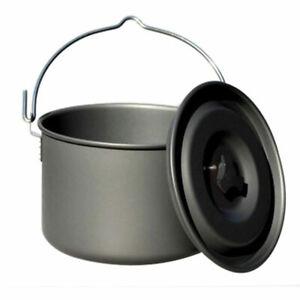 Outdoor single pot aluminum alloy camping pot 5-8 marching pot picnic cauldron