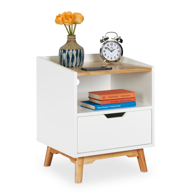 Finebuy Nachttisch 54 Cm Nachtschrank Weiss Nachtkommode Nachtkonsole Modern Gunstig Kaufen Ebay