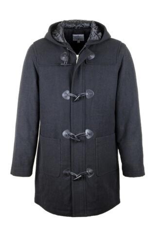 Coat Xxl Warm Hooded Mens New Labelduck Jacket Sizes Zip Winter Duffle Black S Yp11Bq