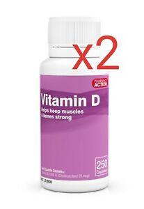 2-x-VITAMIN-D-D3-1000IU-250-CAPSULES-OSTELIN-Generic-FREE-EXPRESS-AU-POSTAGE
