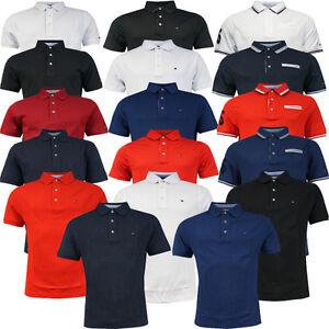 Tommy-Hilfiger-Golf-Liso-de-Manga-Corta-Pique-Hombre-Polo-Superior-Tee-UA23