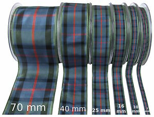 Flower-of-Scotland-Tartan-Ribbon-various-widths-cut-lengths-and-25m-reels