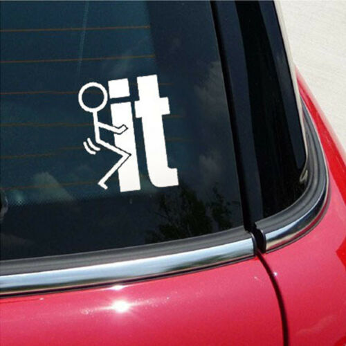 1pc SUV Car Window Rear Trunk Funny White Fuck-it Die Cut Vinyl Decal Sticker