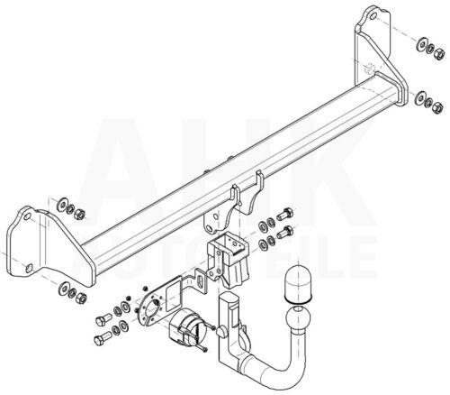 Für BMW X1 F48 Anhängerkupplung abnehmbar ABE