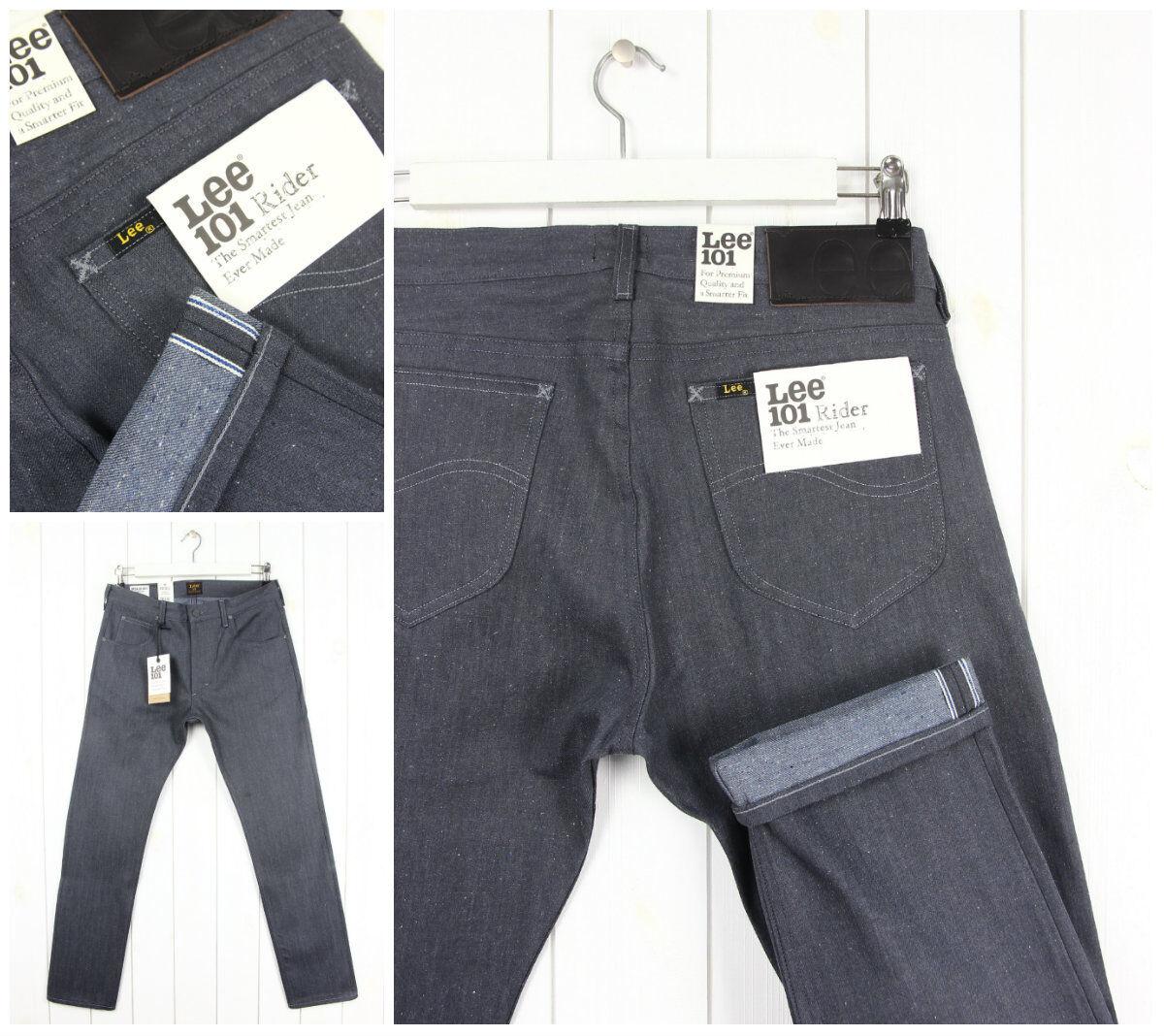 Nuovo Lee 101 Rider Grigio Jeans Asciutto Jeans Vivagno Affusolato Slim Luke _