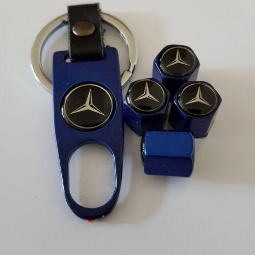 VALVOLA a disco MERCEDES Polvere Tappi in lega chiave portachiavi in scatola tutti i modelli di una classe B