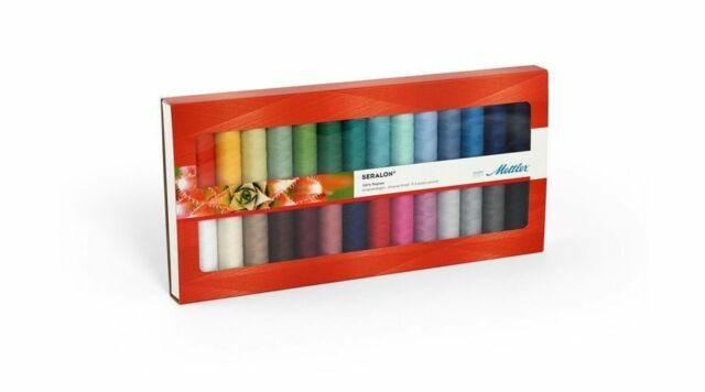 Mettler Seralon Assorted Embroidery Colourful Thread Pack 28 x 200m Spools