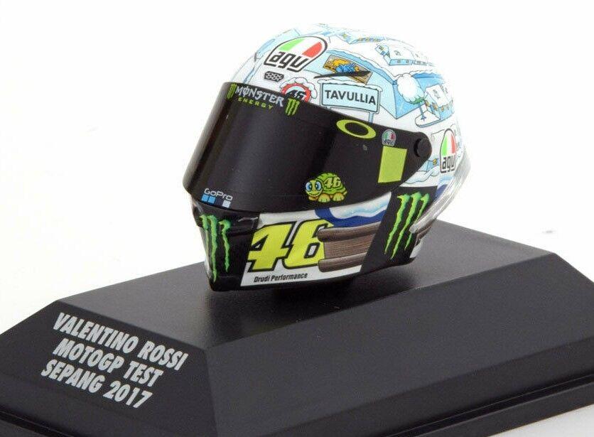 MINICHAMPS 1 8 AGV Casque Valentino Rossi  46 MOTOGP SEPANG Test 2017 399170076