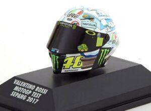 Minichamps Agv 1/8 Casque Valentino Rossi # 46 Test Motogp Sepang 2017 399170076 4012138141711