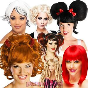 Parrucca-donna-sintetica-carnevale-giocattolo-cosplay-party-Halloween-DL-2043