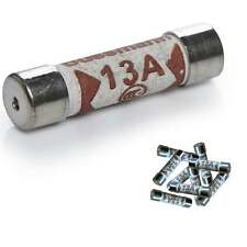 UKDJ 13a Fuse * Pack of 10 fuses * For Plug Top Household Mains 13amp Cartridge