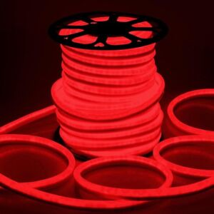 Delight 150 ft red led neon rope light flex tube sign holiday image is loading delight 150 039 ft red led neon rope aloadofball Image collections