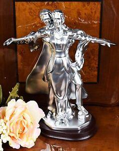 Image is loading Italian-Silver-Titanic-Bride-&-Groom-Figurine-Statue- & Italian Silver Titanic Bride u0026 Groom Figurine Statue Wedding Couple ...