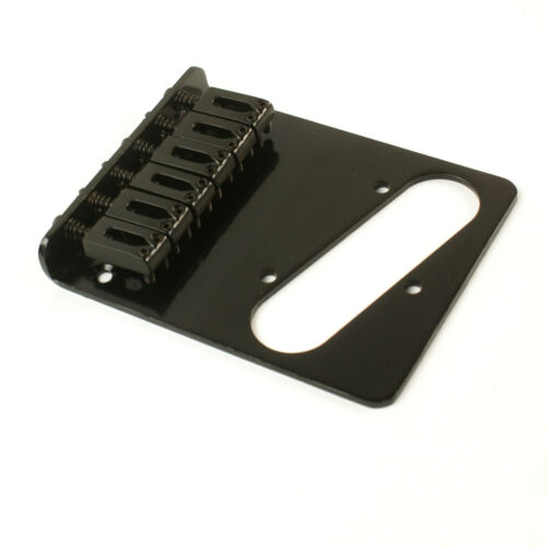 Replacement Tele style Guitar bridge Black 6-Saddle Modern Style