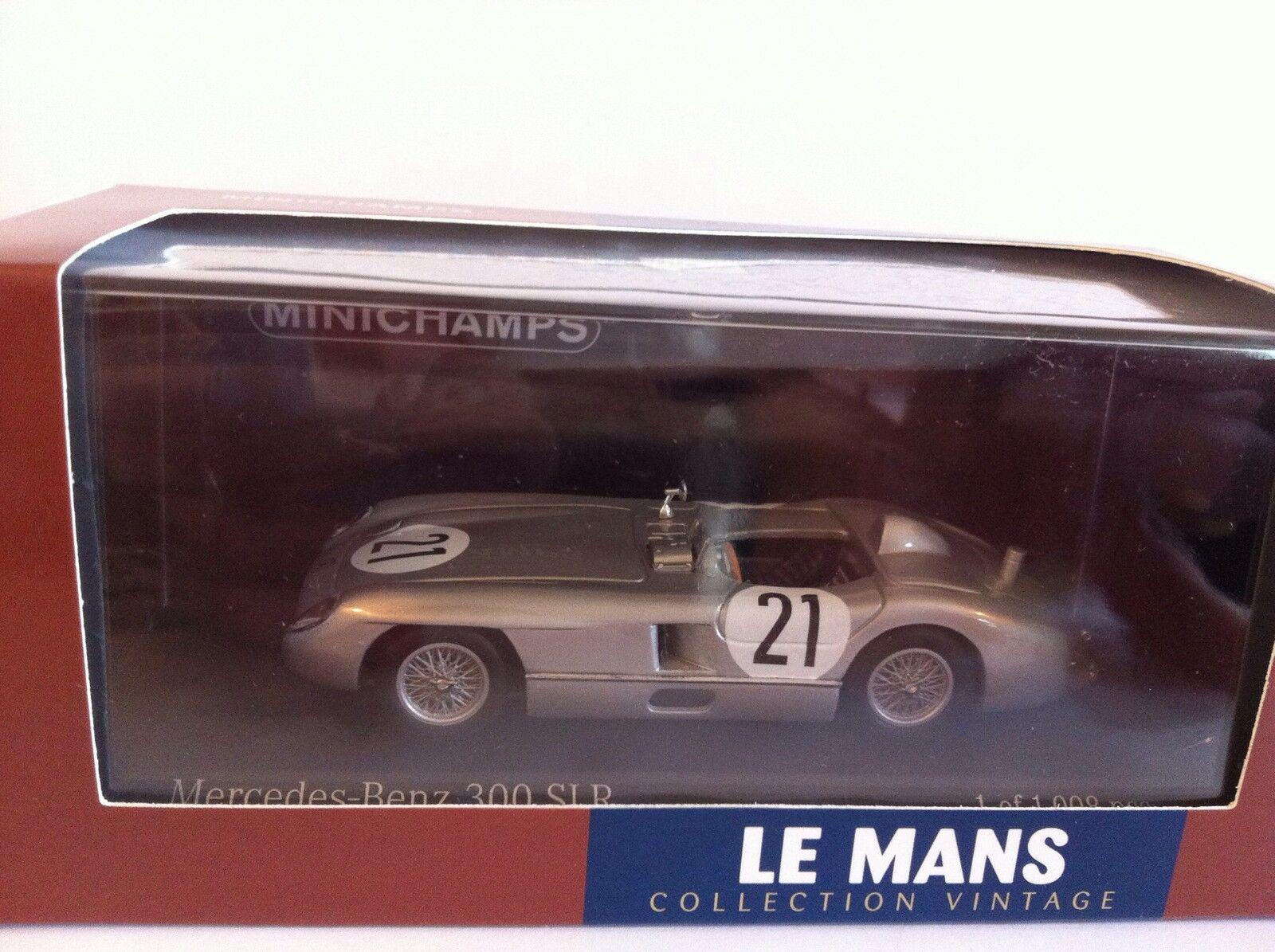 Minichamps 1 43 Escala Mercedes 300 SLR Rey Simon Le Mans 1955 432553021 Nuevo