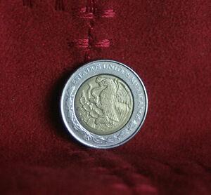 National arms Mexico 2001-1 Peso Bi-Metallic Coin