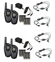 (4) Cobra Cxt235 Microtalk 20 Mile Walkie Talkie 2-way Radios + (4) Headsets on Sale