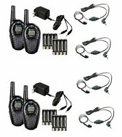 (4) Cobra Cxt235 Microtalk 20 Mile Walkie Talkie 2-way Radios + (4) Headsets on sale