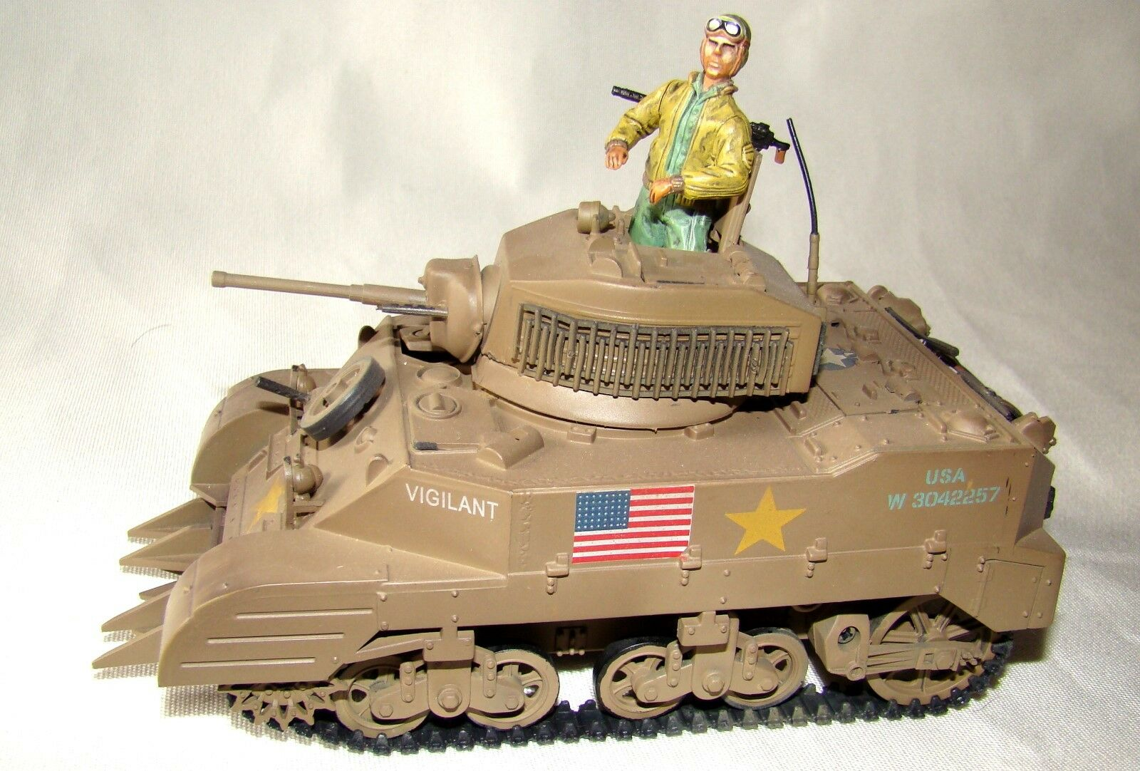 1 32 Ultimate Soldier U.S WWII M5A-1 Stuart Vigilant Tank w  Mine Plow