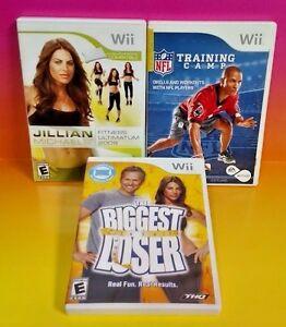 NFL-Training-Biggest-Loser-Jillian-Fitness-2009-Nintendo-Wii-Wii-U-3-Games