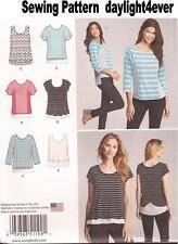 Women Knit Top 3 Styles L/S S/S Sewing  Pattern 1199 New Size XXS-XXL #v