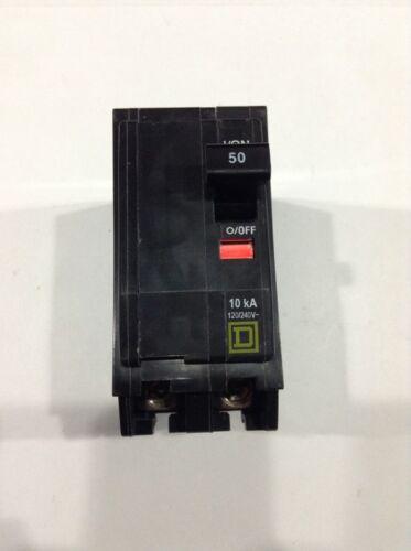 BOX OF 5 SQUARE D QO250 PLUG-IN CIRCUIT BREAKER 2 POLE 50 AMP 120//240V NEW