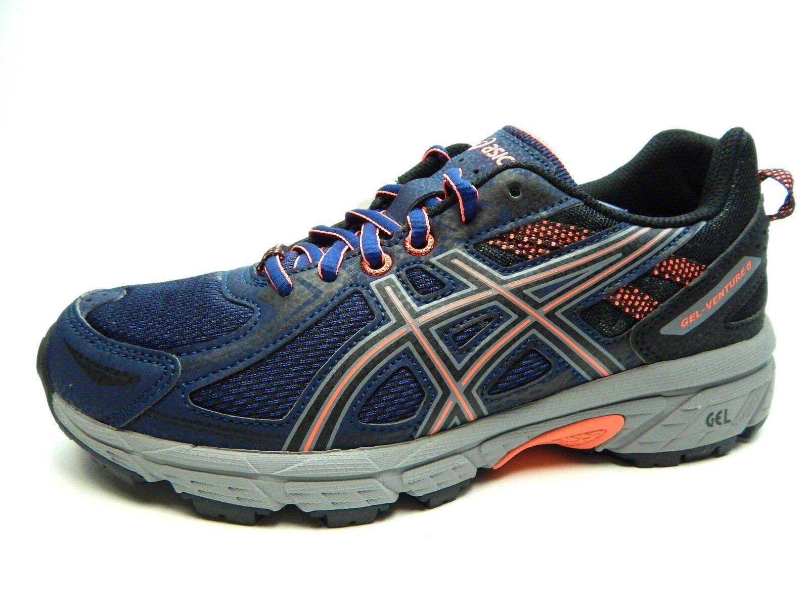 ASICS Gel Venture 6 Femme Running INDIGO Bleu Noir T7G6N 4990 Chaussures Taille 5.5-11