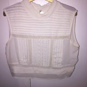 c953a3a1dceea3 Image is loading Brand-New-Zara-ruffle-cream-crop-blouse