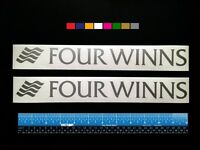 2 (two) Four Winns Boats Marine Hq Decals 12 - Silver Metallic + More