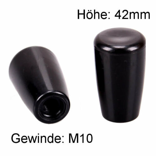 Knauf M10 Kegel Innengewinde Kunststoff Kugel Griff rund Hebel Schalter KFZ LKW