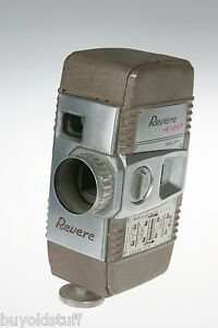 Mid-Century-MODERN-1957-Revere-EIGHT-Model-FIFTY-8mm-Movie-Camera-WORKS