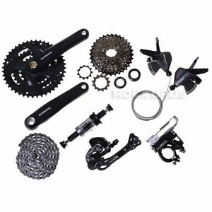 New Shimano Altus M370 MTB City Bike Groupset Group set 3x9 27-speed Black