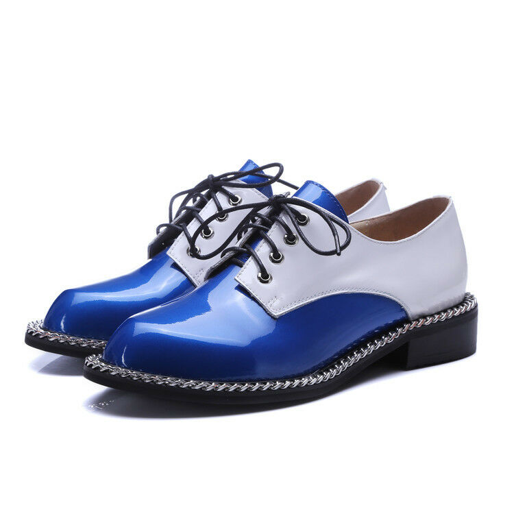 Fashion Retro Women Casual Lace Up Oxford College Style Flat Fashion shoes Size