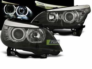Forlygter-til-BMW-5-SERIE-e60-e61-03-07-LED-ANGEL-EYES-h7-sort-lpbme-3et-XINO-de