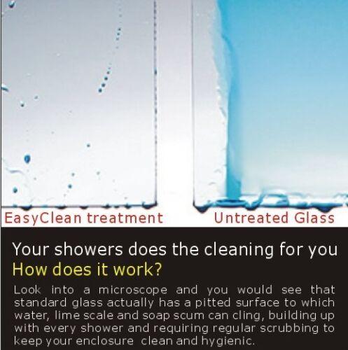 Walk In Shower Enclosure Wet Room Screen Flipper NANO Glass Panel 1850//1900//2000