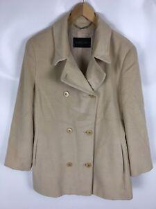 47b046f2e59c Das Bild wird geladen MARC-CAIN-Mantel-Jacke-Wollmischung-mit-Angora-Beige-