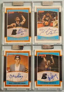 4) RASUAL BUTLER 2002/03 BOWMAN SIGNATURE ARCHIBALD ROOKIE AUTOGRAPH RC LOT /99