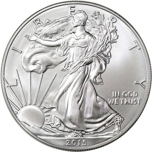 AMERICAN EAGLE SILVER COIN 2015 UNCIRCULATED 1 oz