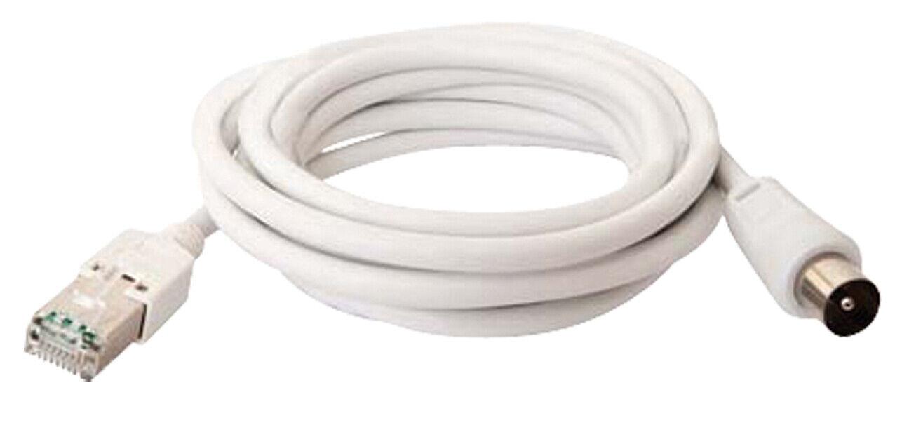 Macab Coax Cable Coax Male - RJ45 (8P8C) Male 2.00 m White NE56014545