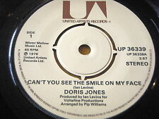"""DORIS JONES - CAN'T YOU SEE THE SMILE ON MY FACE       7"""" VINYL"""