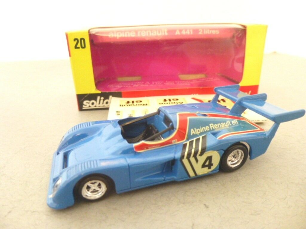 Solido Toys Alpine Renault A441 2 Litres Formula 1 Sports Model Racing Car