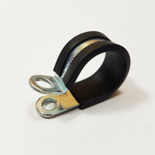 P Clips 21mm Rubber Lined Zinc Plated Mild Steel Metal Clamp Hose Cable Pclip