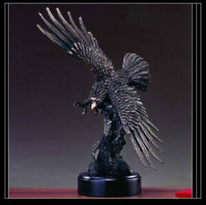 EAGLE Bronze Sculpture Statue Large Home Decor Desk Designer Resin