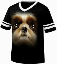 Big Shih Tzu Head Canine Small Toy Dog Breed Best Friend Retro Ringer T-shirt